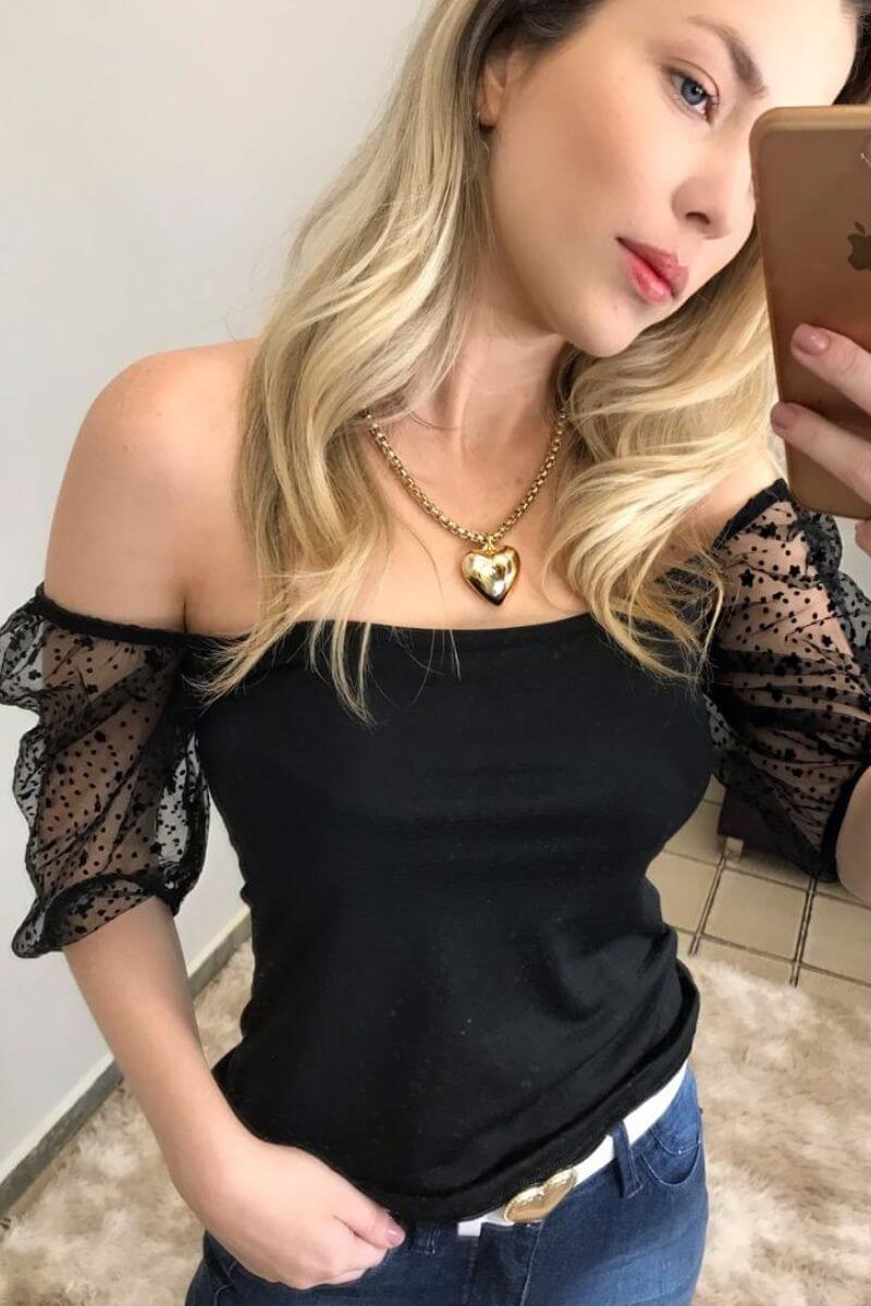 Blusa Feminina Princesa Ombro a Ombro
