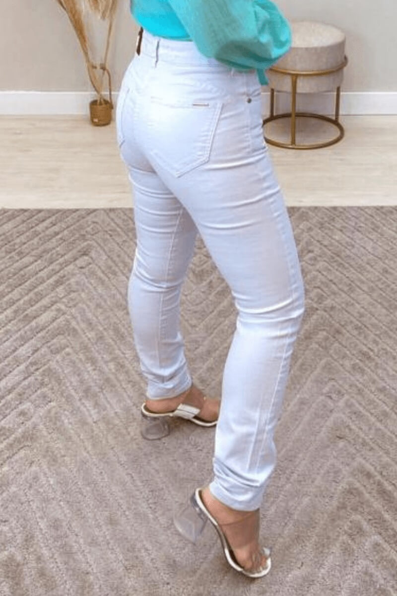 Calça Brim Feminina Branca