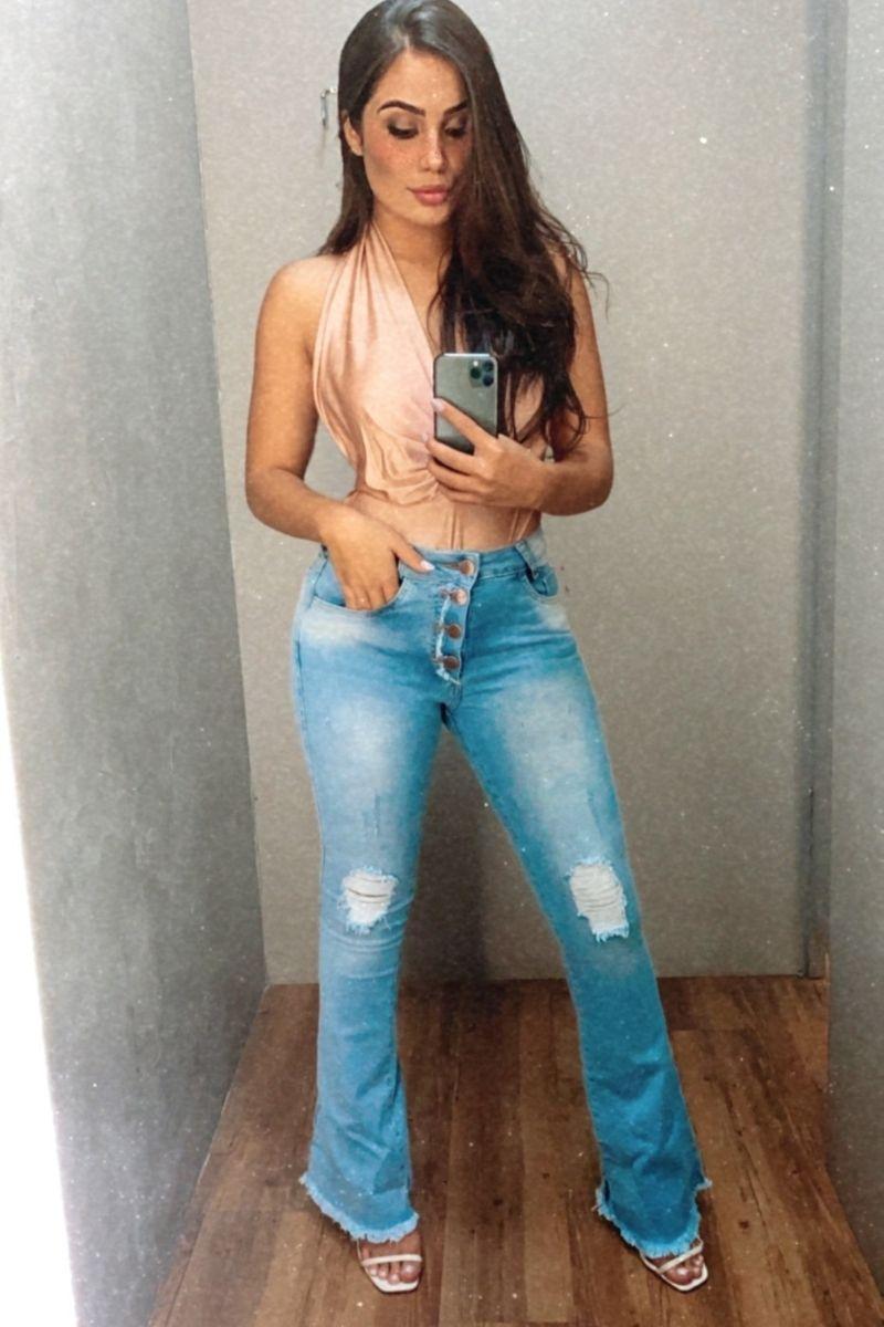 Calça Jeans Feminina Flare Diana