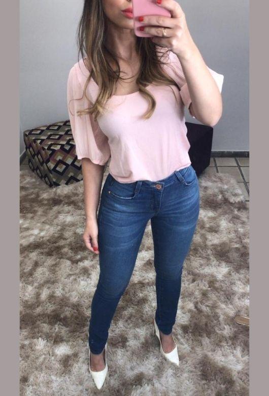 Calça Jeans Feminina Skinny Max Azul Escuro