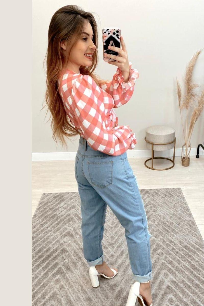 Calça Jeans Feminina Mom Alice