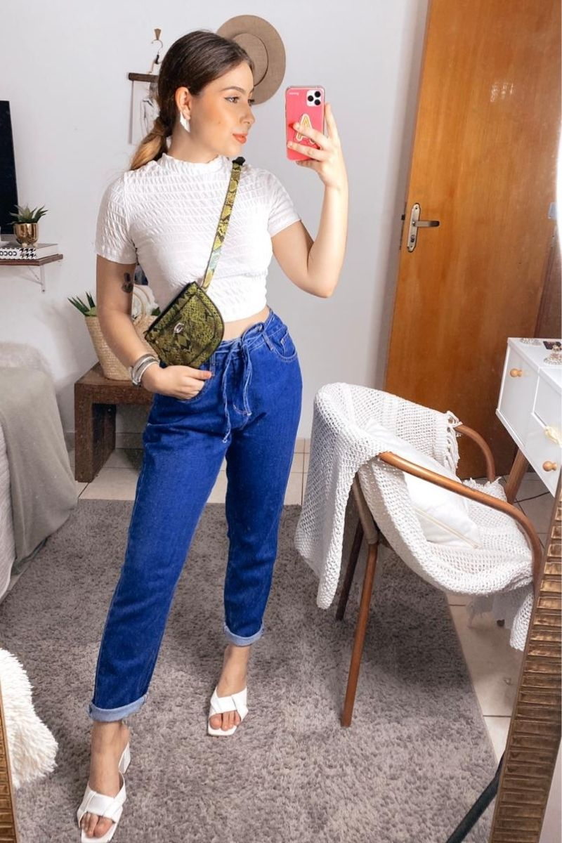Calça Jeans Feminina Mom Mirella