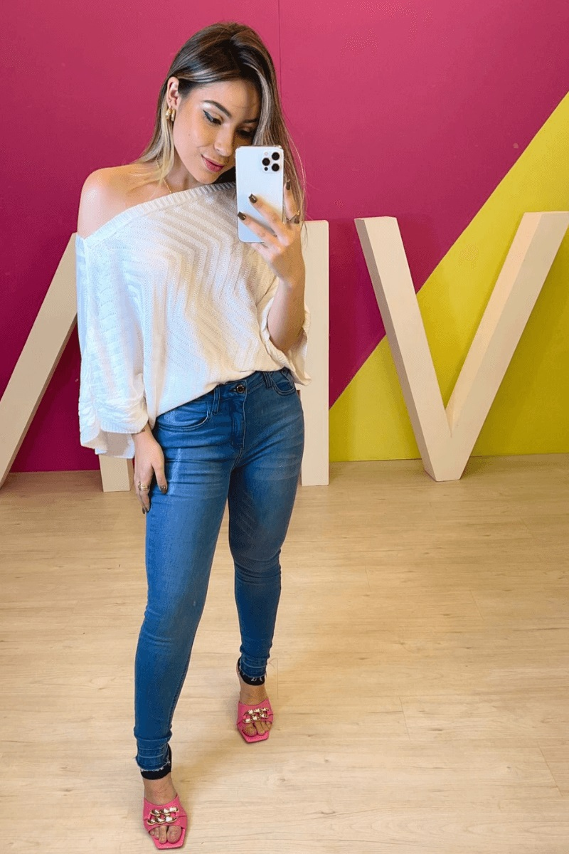 Calça Jeans Feminina Skinny Livia Gussen