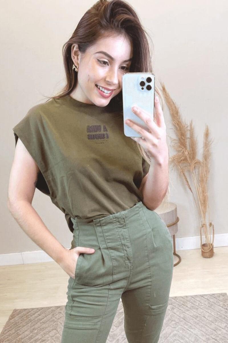 Calça Feminina Skinny Sarja Militar Colcci