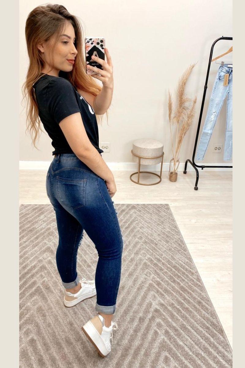 Calça jeans Feminina Liliane