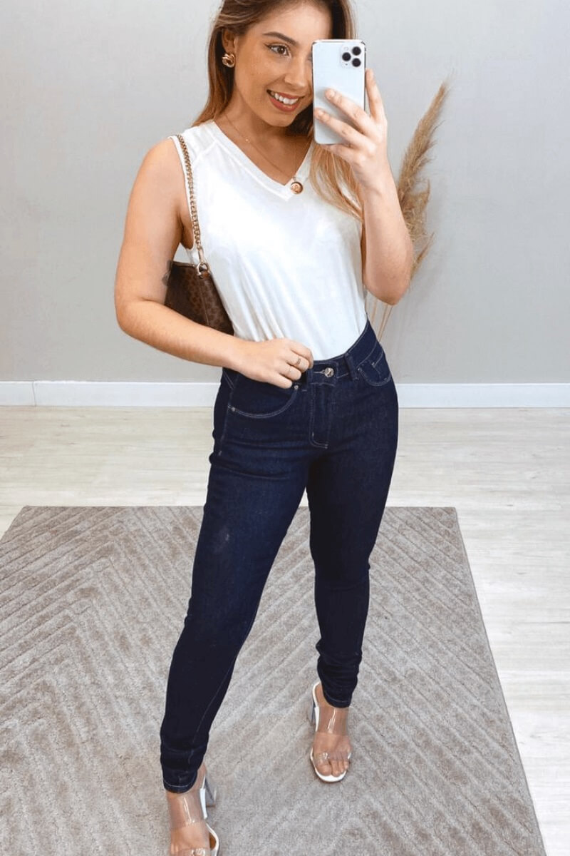 Calça Jeans Feminina Lycra Wrangler PT