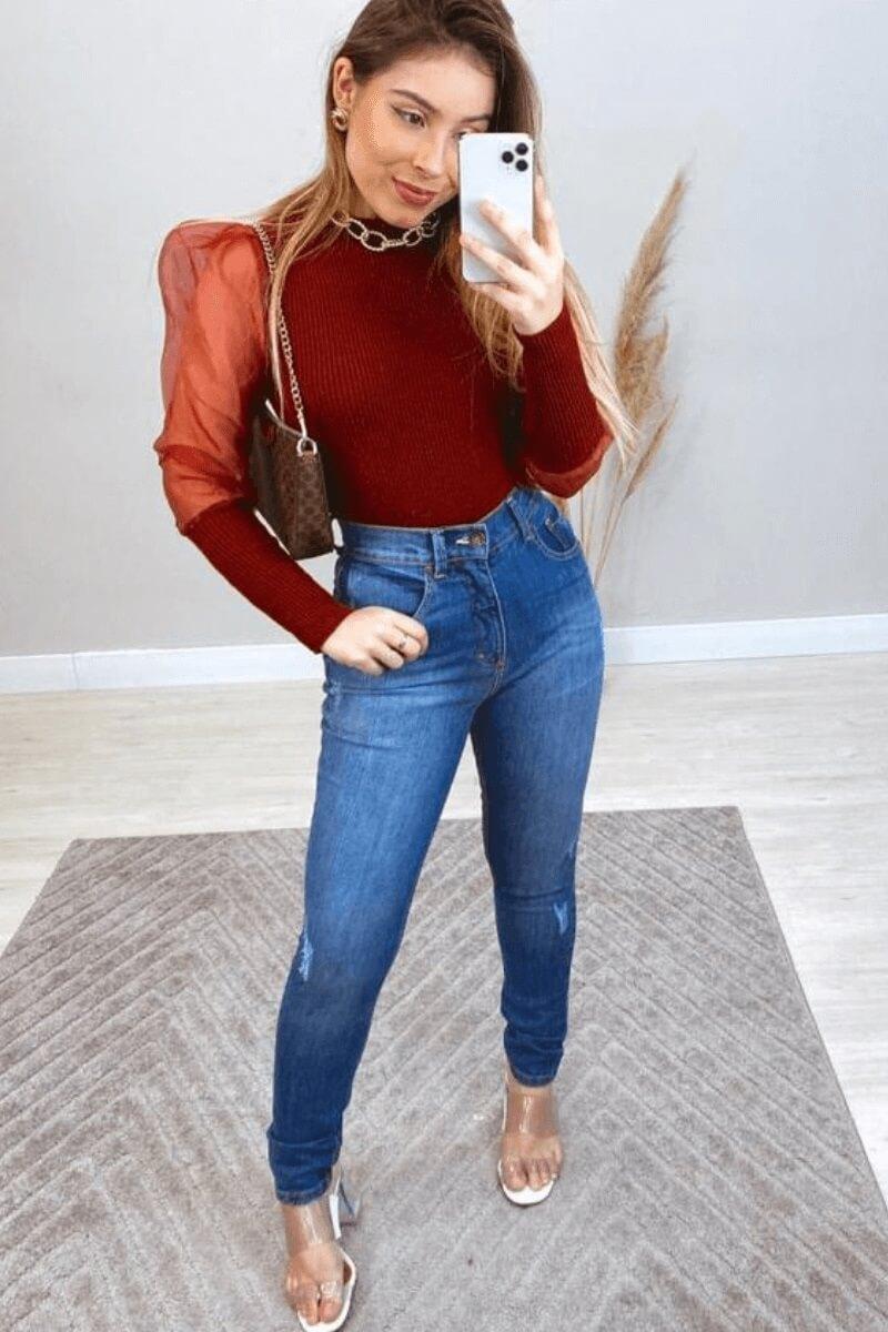 Calça Jeans Feminina Mom Paulista