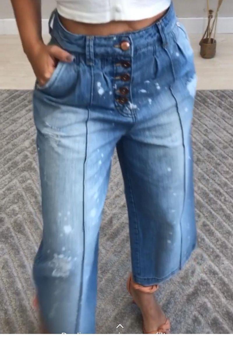 Calça Jeans Feminina Pantacour Londres