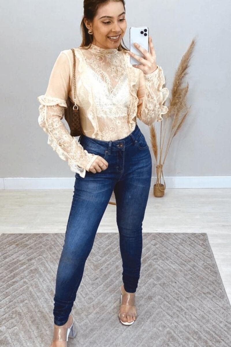 Calça Jeans Feminina Salon