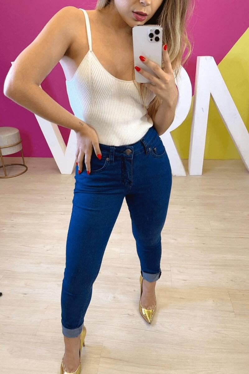 Calça Jeans Feminina Skinny Básica 1