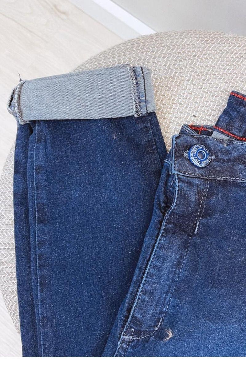 Calça Jeans Feminina Skinny Cós Alto My Size