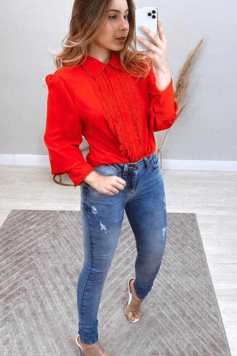 Calça Jeans Skinny Feminina Paca