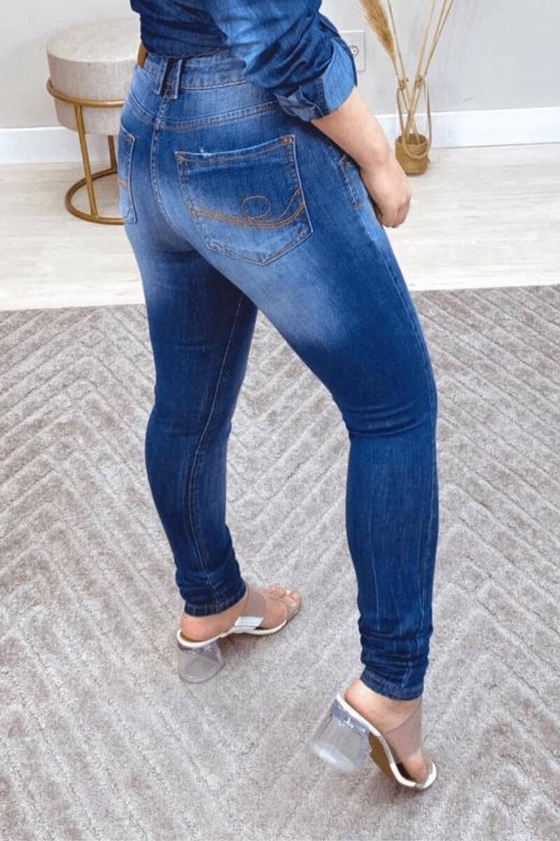 Calça Jeans Skinny Feminina Xavantes