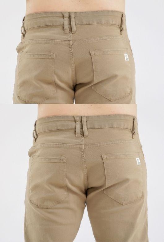 Calça Masculina Caqui Tradicional Max 9