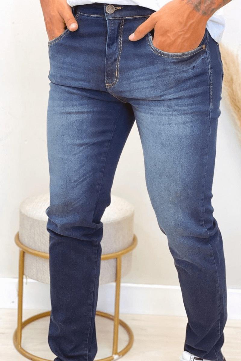 Calça Jeans Masculina Slim Escura 2 KCZ