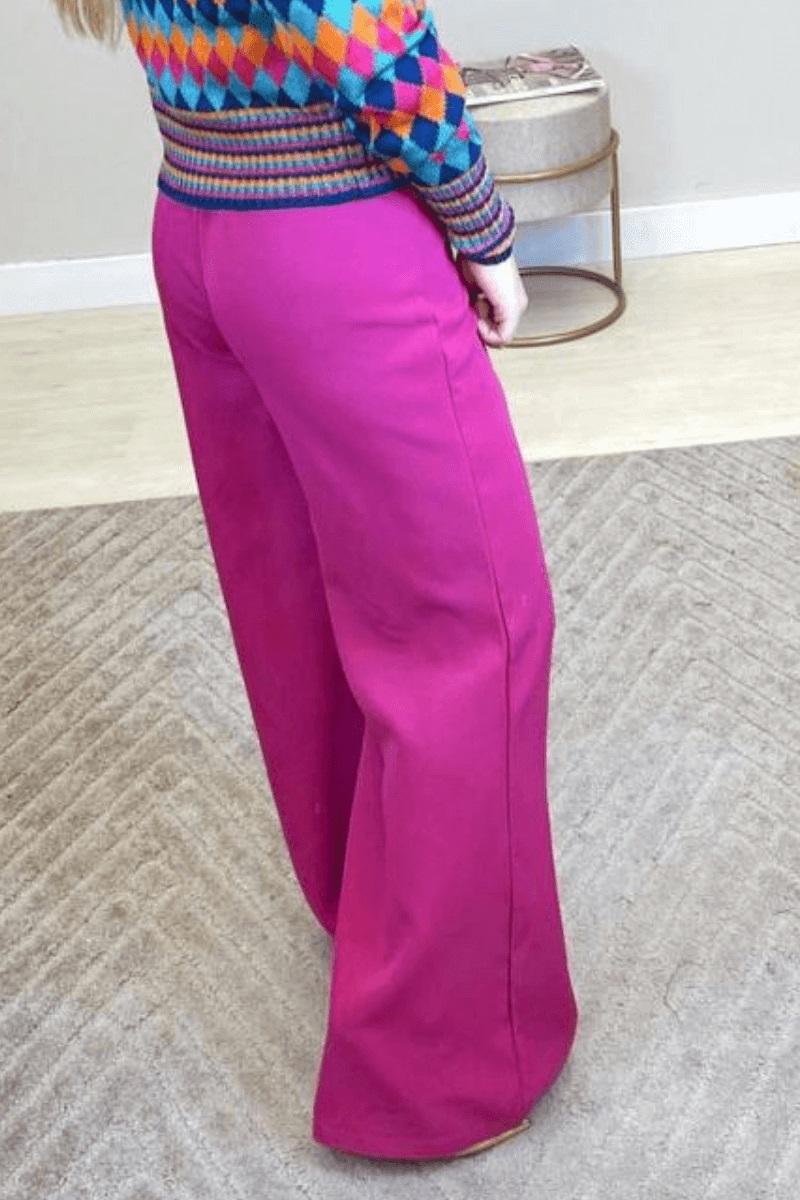 Calça Pantalona Seda