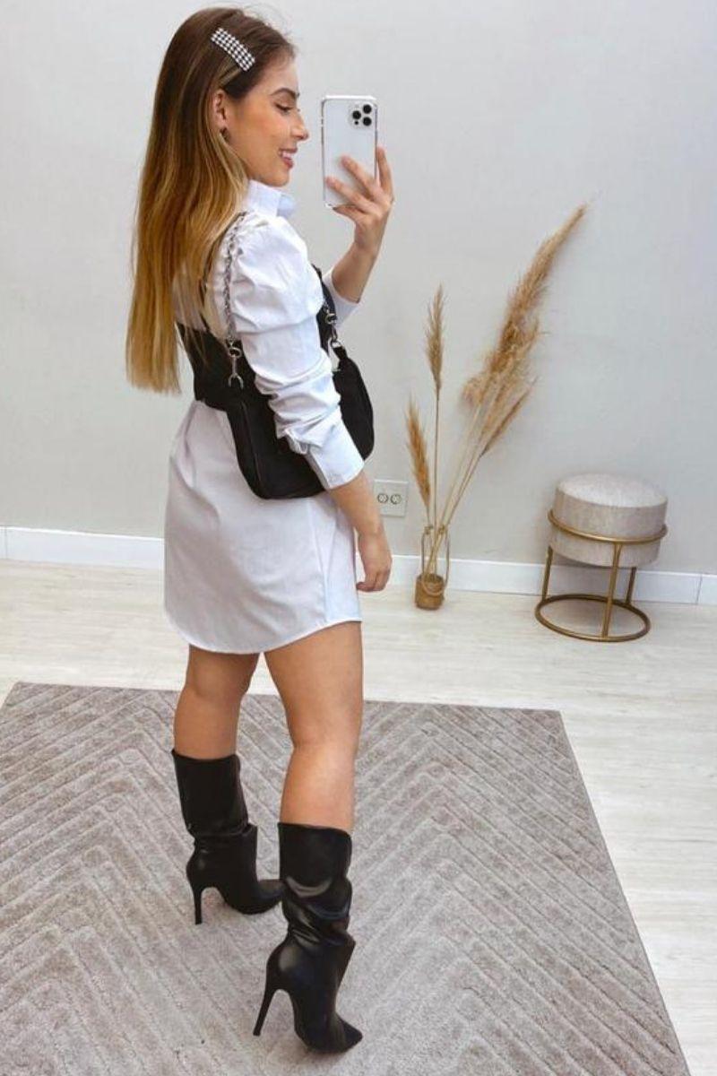 Camisa Feminina Alongada