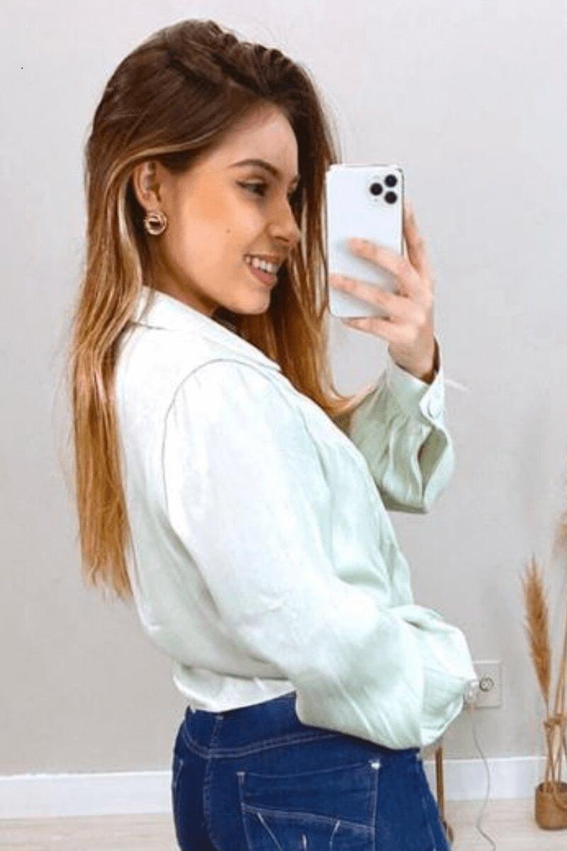 Camisa Feminina Acetinada