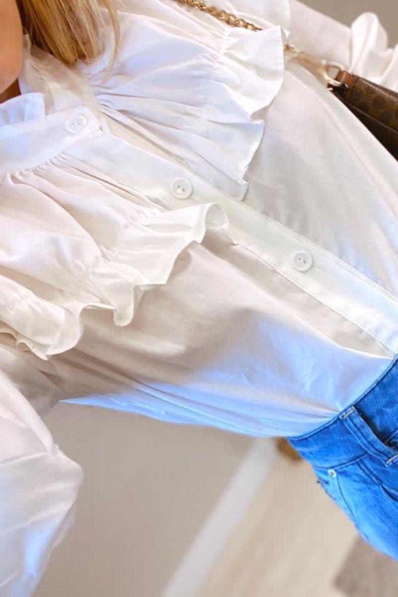 Camisa Feminina Babados
