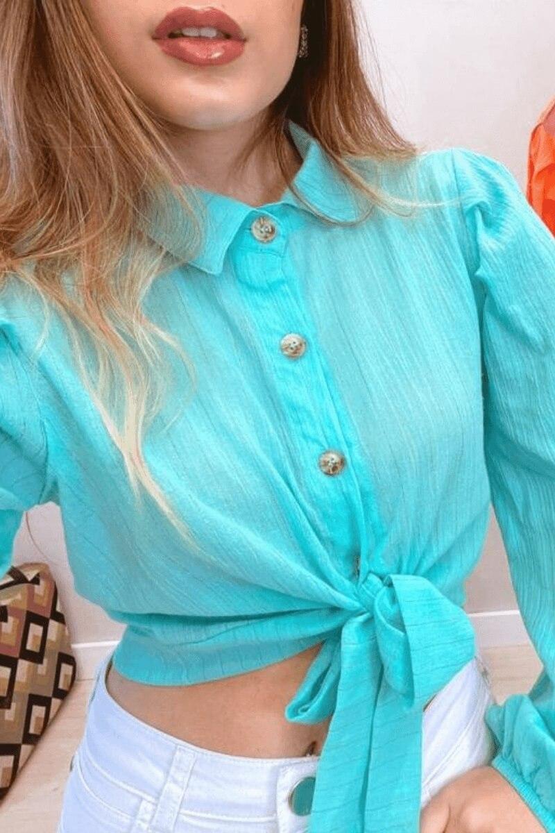 Camisa Feminina Cropped M.L