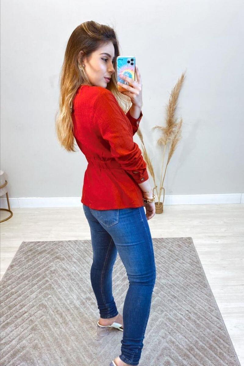 Camisa Feminina Linho Suzan