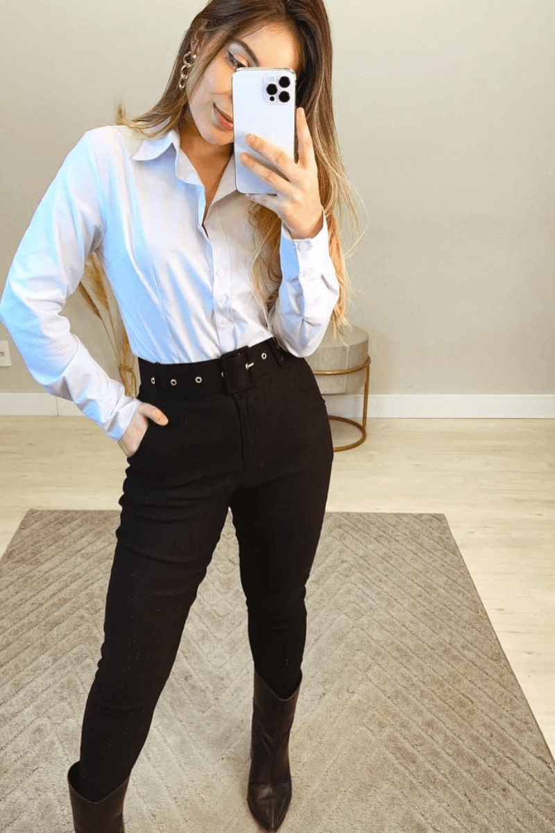 Camisa Feminina M.L Branca