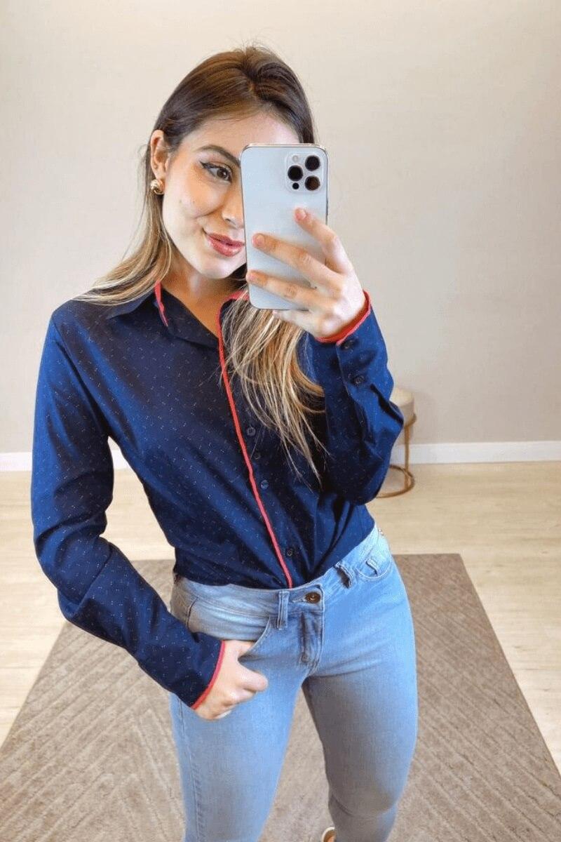 Camisa Feminina Social M.L