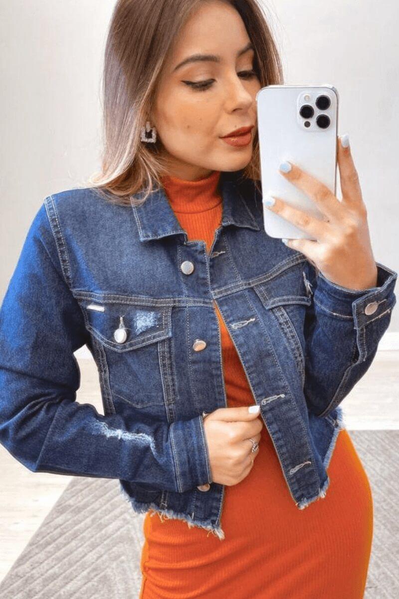 Jaqueta Feminina Jeans luiza