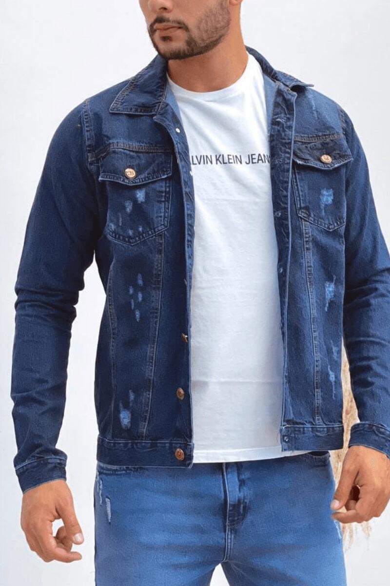 Jaqueta Masculina  Jeans Escura