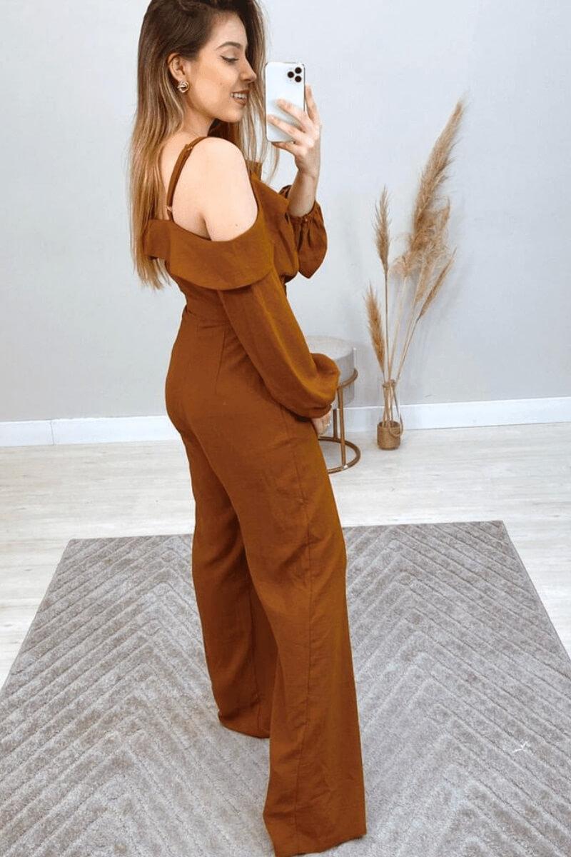 Macacão Feminino Longo Crepe