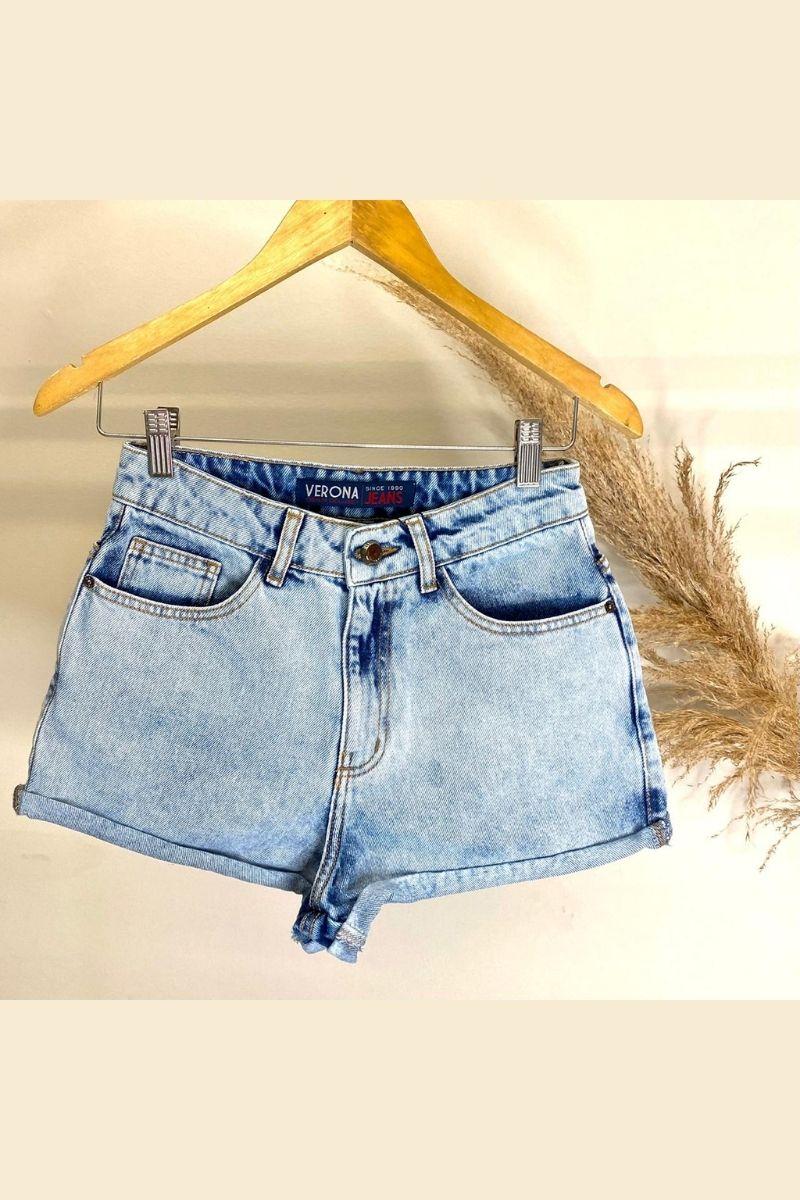 Short Jeans Feminino BoyFriend Bari