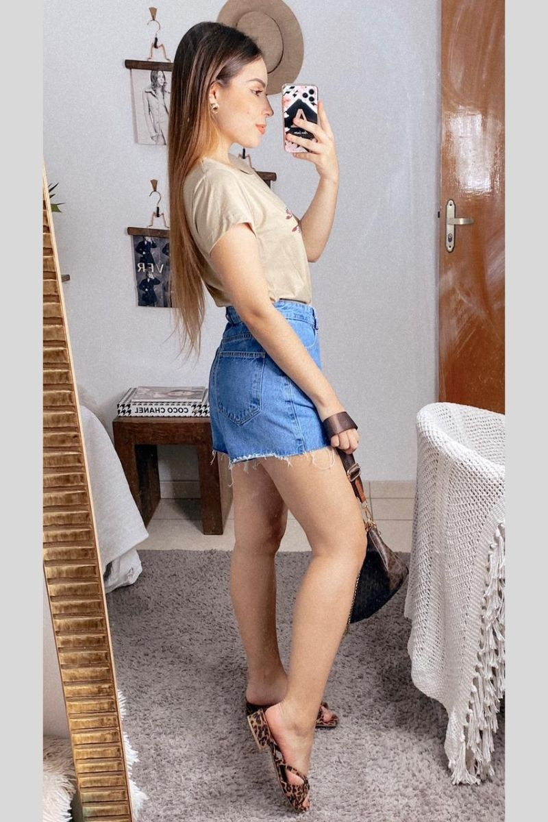 Short Feminino Bianca Claro