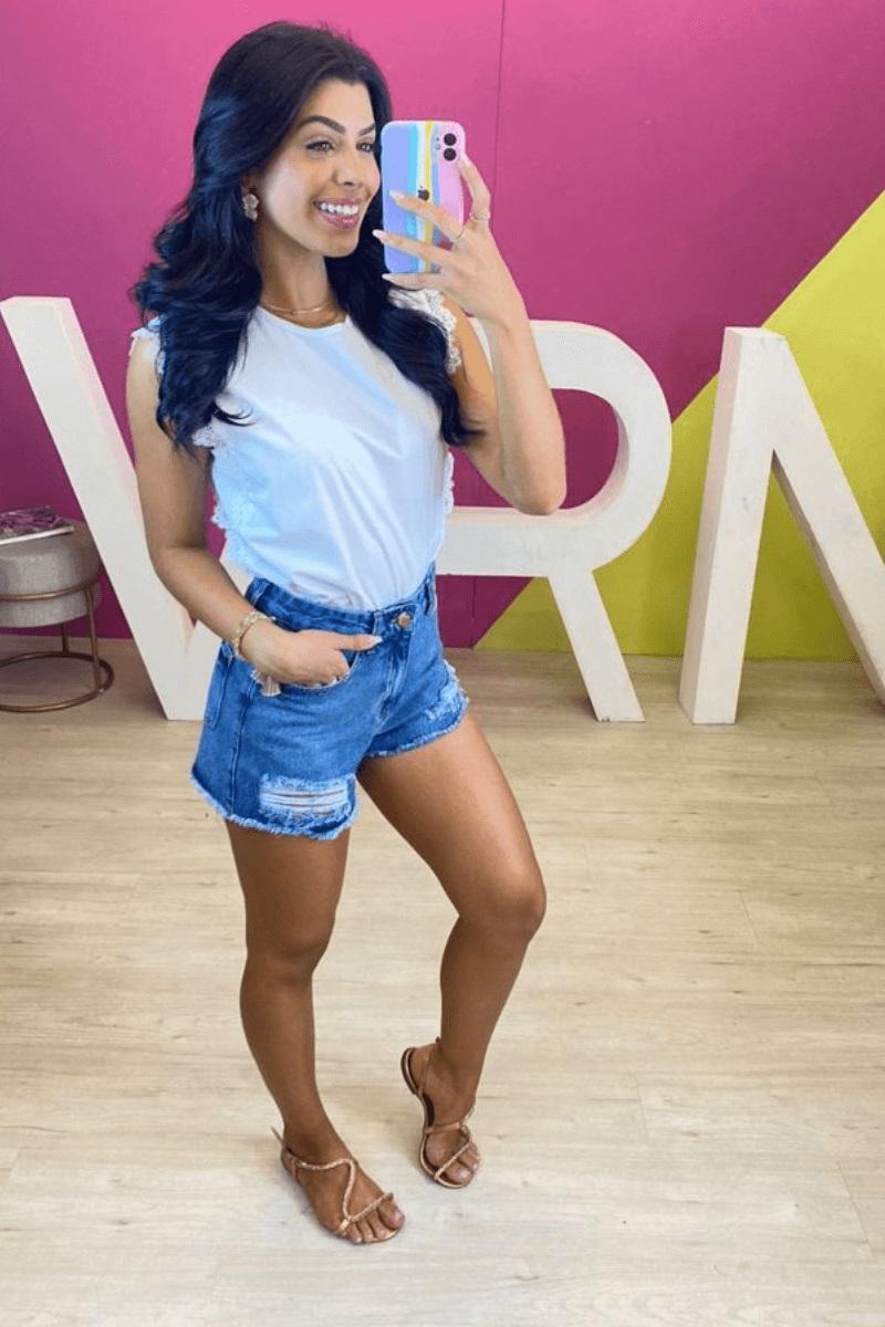 Short Jeans Feminino Lorraine Souza