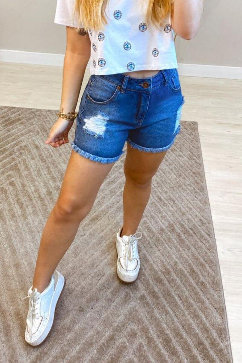 Short Jeans Feminino Patty