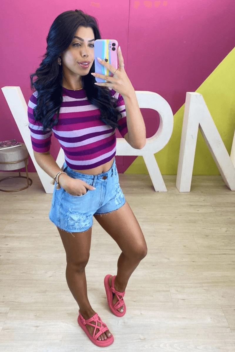 Short Jeans Feminino Thais Ferreira