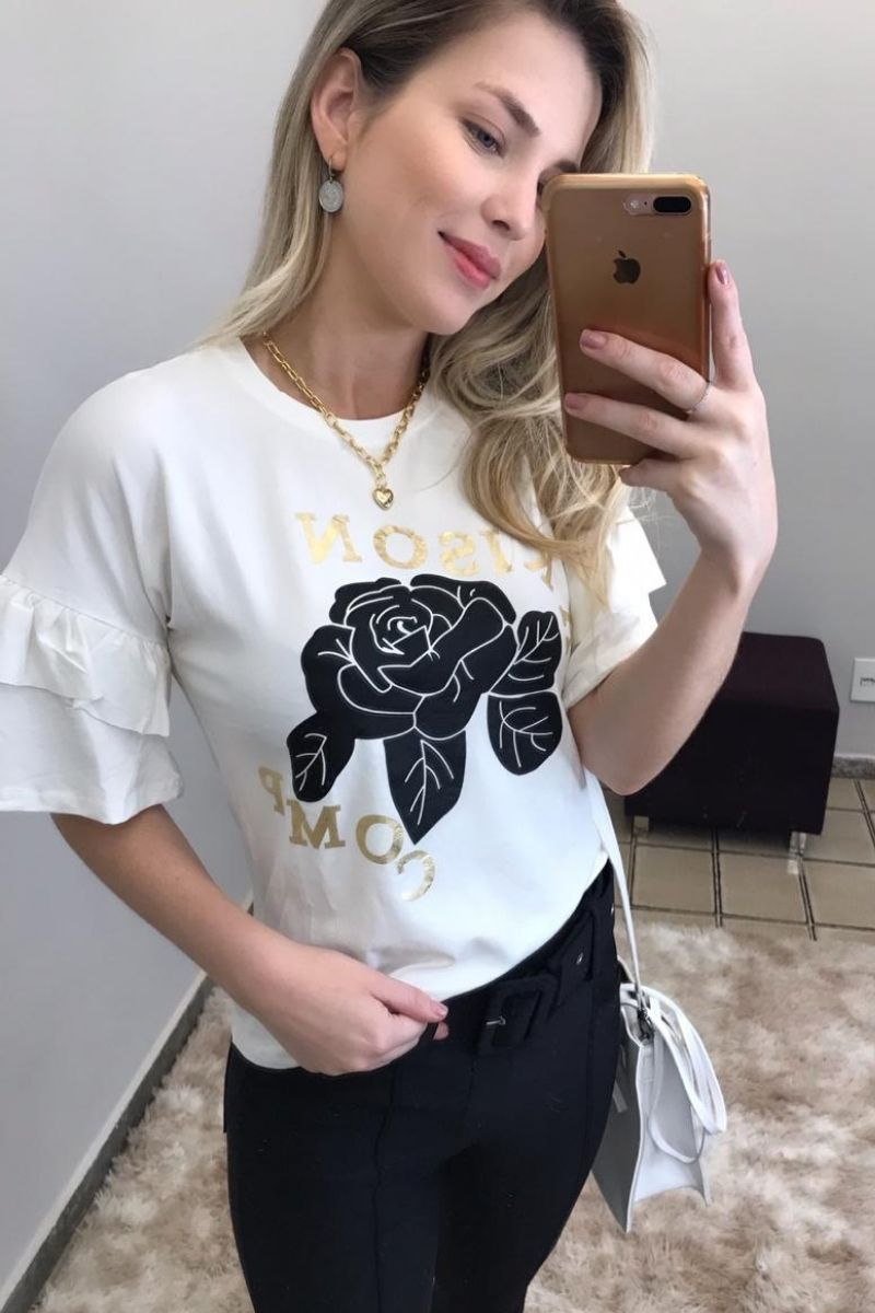 T-Shirt Feminina Flower