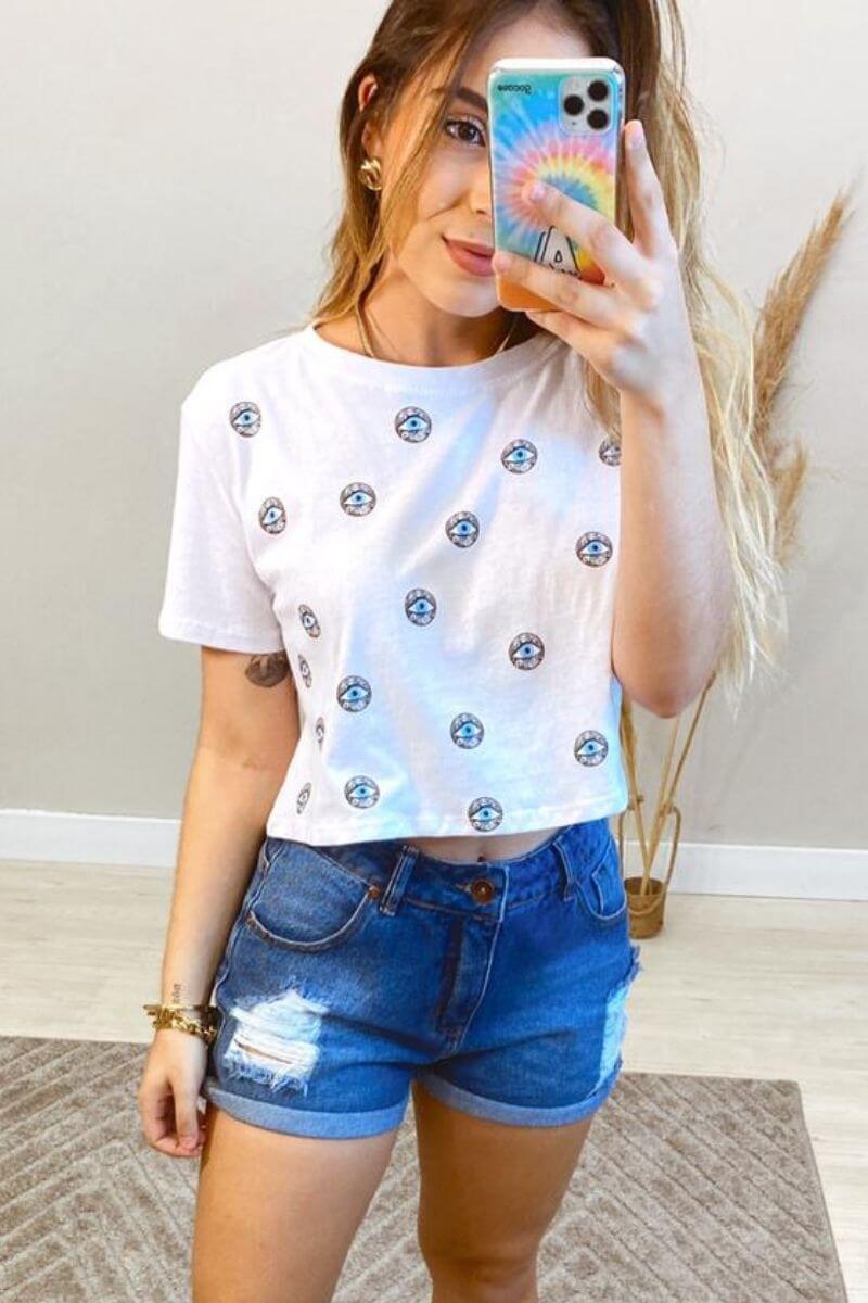 T-Shirt Feminina Olho Grego