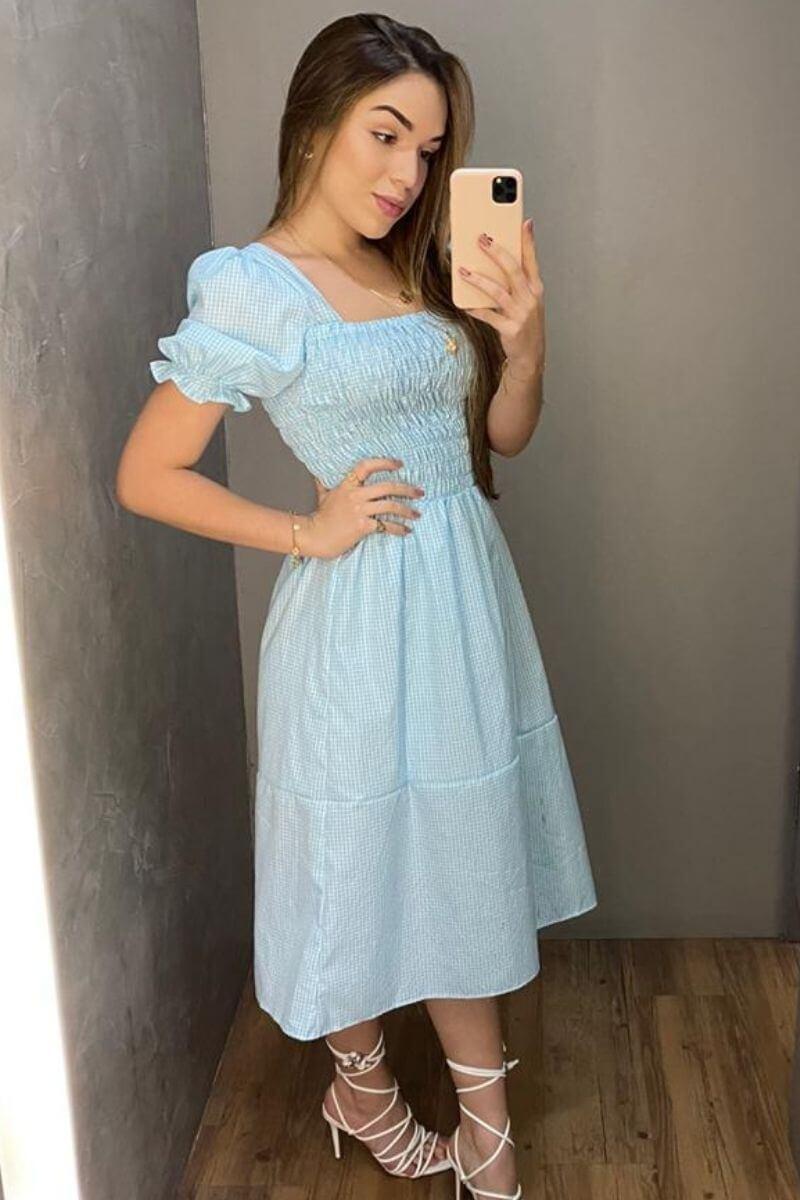 Vestido Ch Xadrez Menor