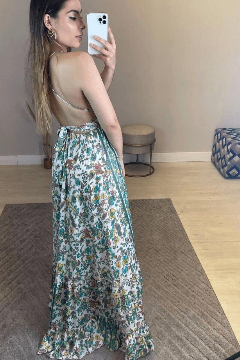 Vestido Feminino Longo Estampado