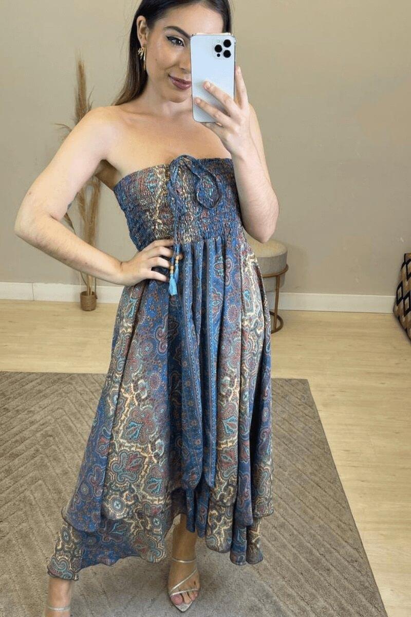 Vestido Feminino Midi 2 em 1