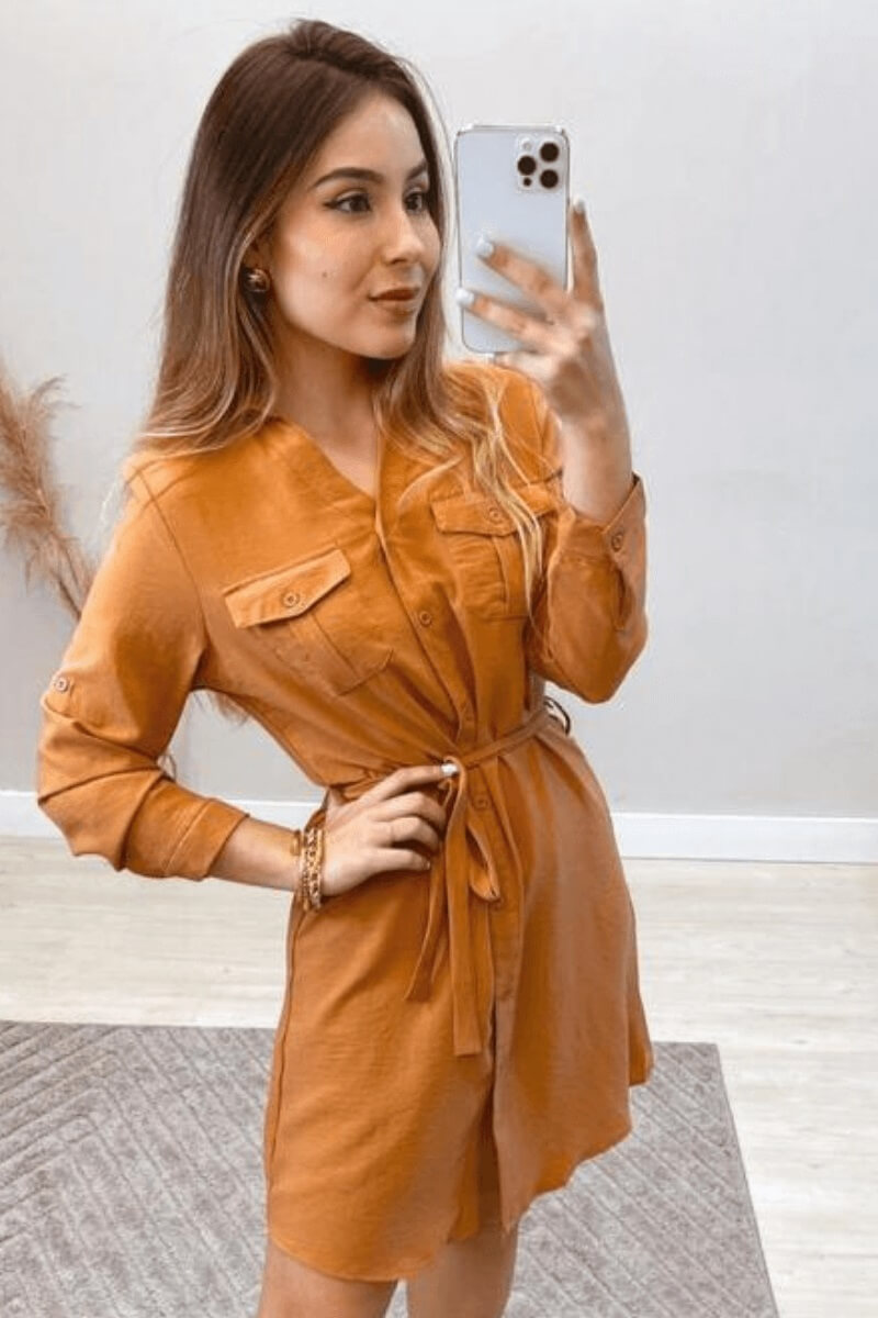Vestido Feminino Midi Crepe M.L