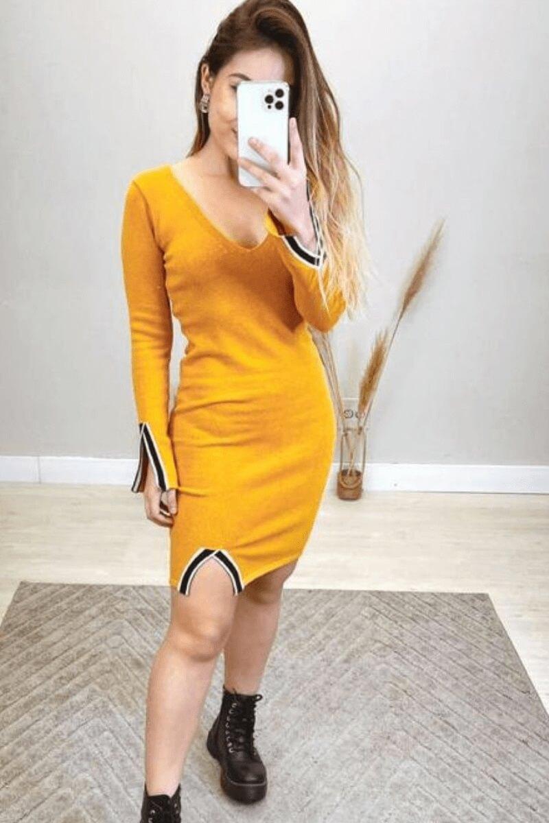 Vestido Feminino Modal C/ Recortes