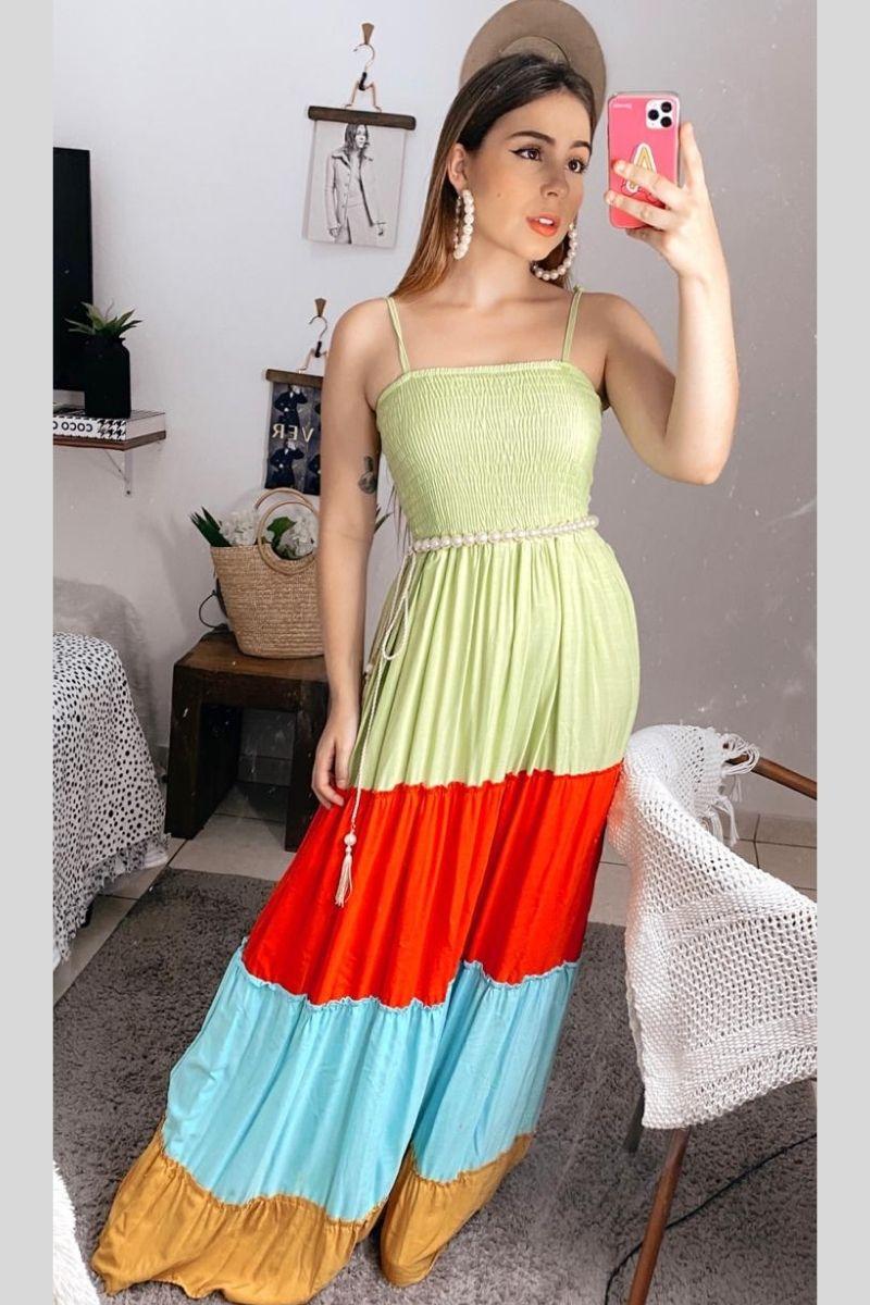 Vestido Longo Color