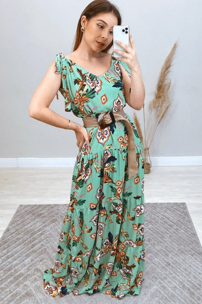 Vestido Longo Pemium Floral