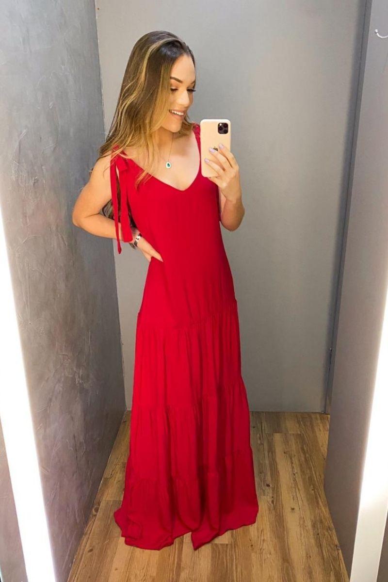 Vestido Longo Red