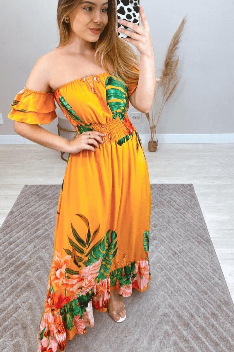 Vestido Longo Tropical