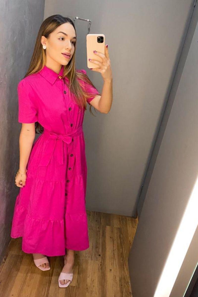 Vestido Feminino Midi Linho