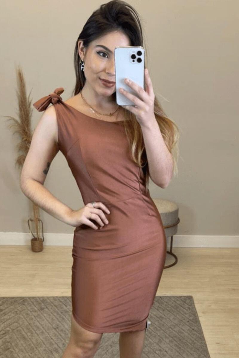 Vestido Feminino Suplex Ferrugem