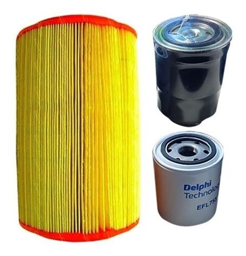 Kit Filtro Ar Oleo Combustível Bongo K2500 8v 2001 a 2011