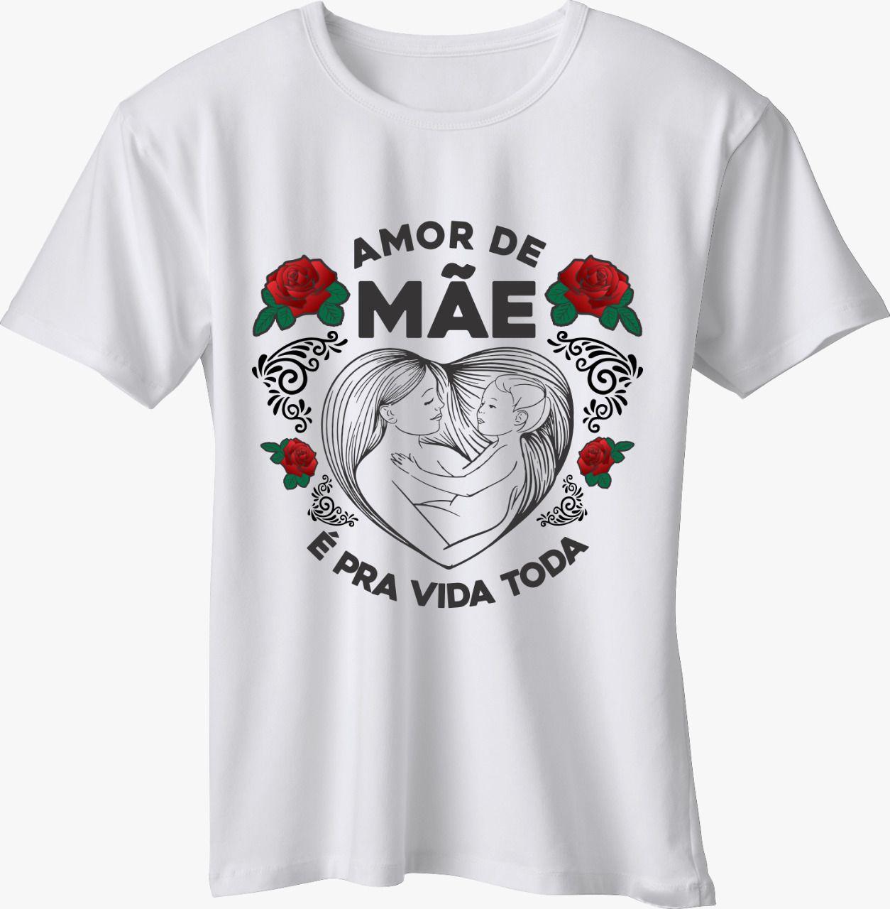 CAMISETA MÃE - AMOR DE MÃE